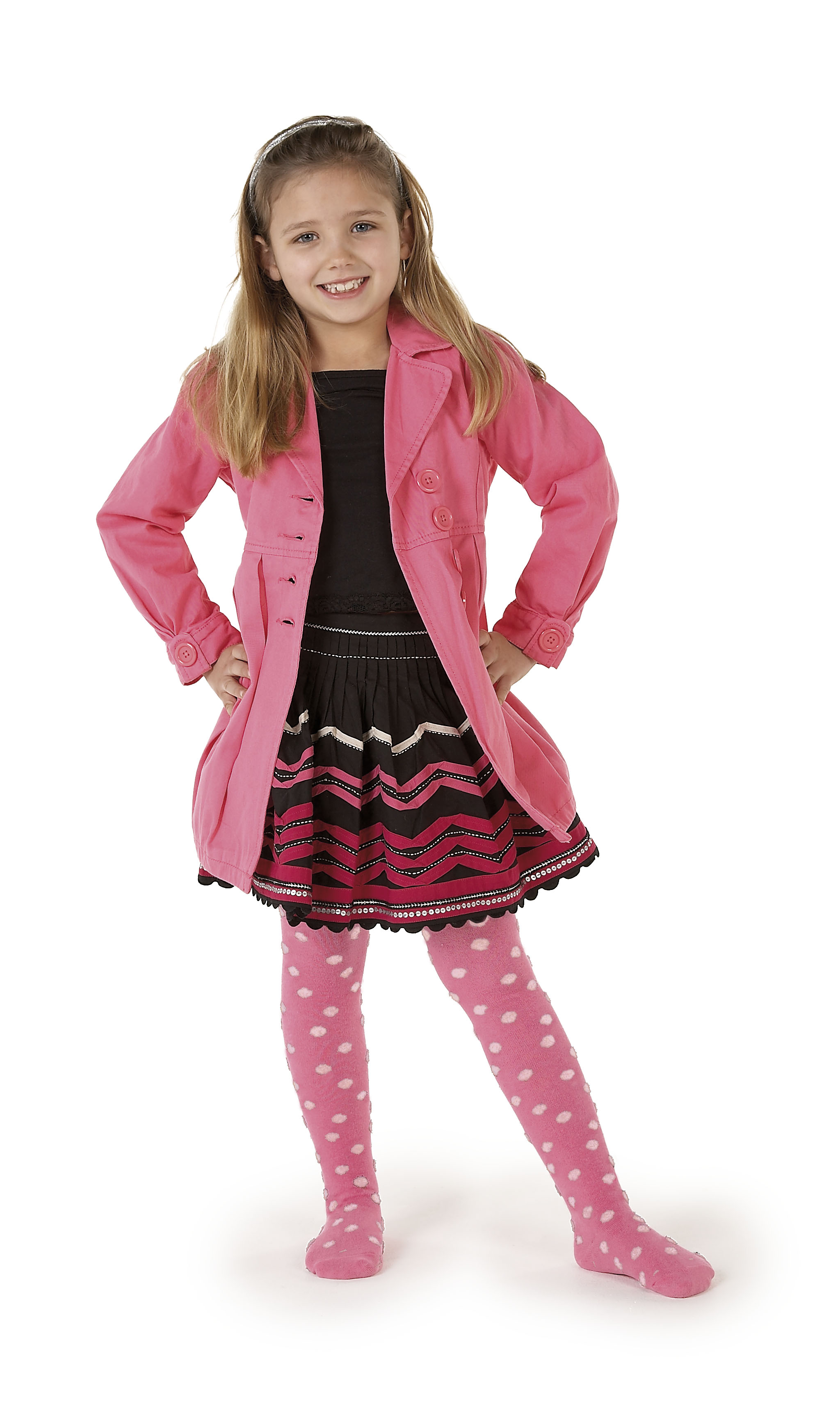 Country Kids girls fluffy dots tights