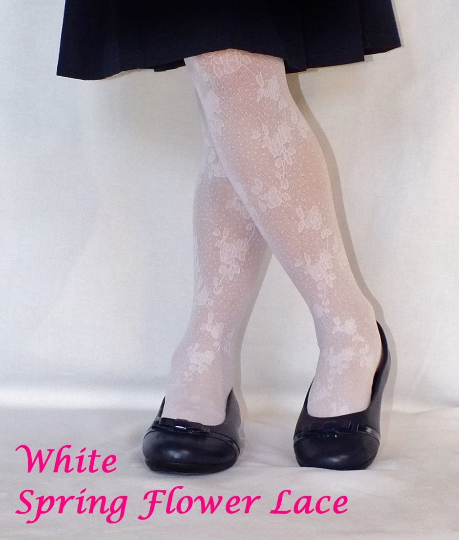 Country Kids Girls Spring Flower Lace Tights